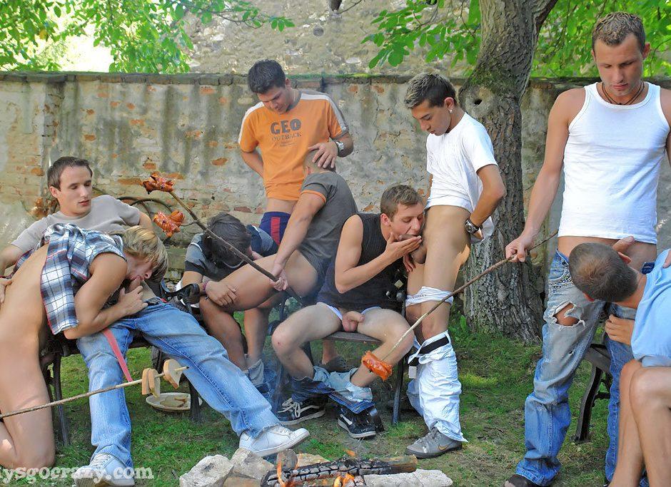Blowjob group Sausage fest